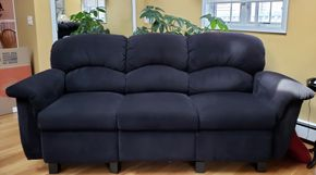 Lot 001 3 Seater Sofa Upholstered 38H x 87.5W x 27D PICK UP IN WILLISTON PARK,NY