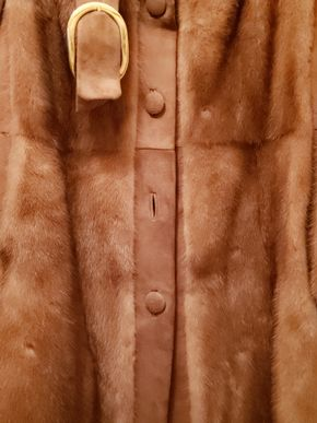 Lot 012 A.C.Bang Furrier /Denmark Mink Coat  (AS IS) 41Length No Size  PICK UP IN GREAT NECK, NY
