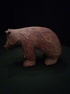 Lot 022 Carved Black Forest Bear 5 x 8 PICK UP IN FLORAL PARK