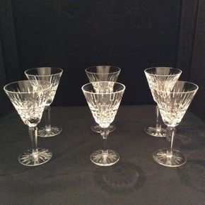 Lot 058 Lot of 6 Maeve by Waterford Wine Glasses ITEM CAN BE PICKED UP IN GARDEN CITY