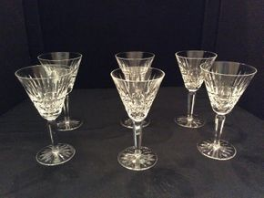 Lot 059 Lot of 6 Maeve by Waterford Wine Glasses ITEM CAN BE PICKED UP IN GARDEN CITY