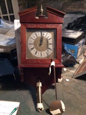 Lot 047 Weight Driven Wall Clock ITEM CAN BE PICKED UP IN DOUGLASTON