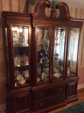 Lot 053 Alexander Julian Home Colours China Cabinet ITEM CAN BE PICKED UP IN GARDEN CITY