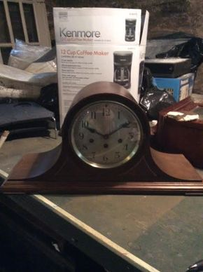 Lot 048 Seth Thomas Mantle Clock  ITEM CAN BE PICKED UP IN DOUGLASTON