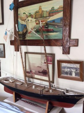 Lot 050 Wooden Sailboat Model ITEM CAN BE PICKED UP IN DOUGLASTON