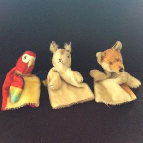 Lot 053 Lot of 3 Steiff Puppets  ITEM CAN BE PICKED UP IN DOUGLASTON