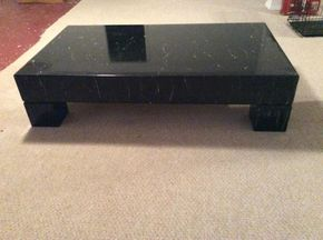 Lot 024 Marble Look Coffee Table 62Lx35Dx14.5H ITEM MUST BE PICKED UP IN GARDEN CITY
