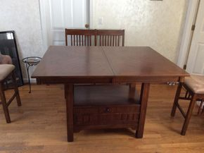 Lot 017 Pub Style High Table 54Lx42wx36T ITEMS MUST BE PICKED UP IN GARDEN CITY