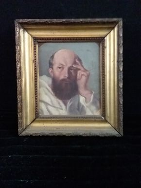 Lot 047 Antique Portrait c1950 Oil on canvas laid to board 6.25H x 5.50W