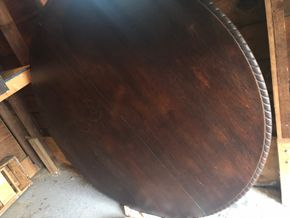 Lot 021 Mahogany 60inch Round Pedestal Table PICK UP IN RVC