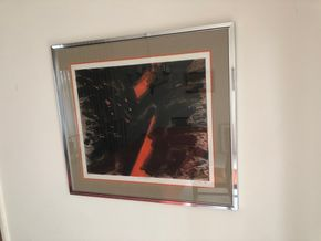 Lot 023 PU Glowing Tree by Gabor Peterdi, hand signed 1958 24w x 20L without frame PICK UP IN RVC