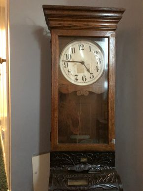 Lot 017 International Electric Time Stamped Clock Non-Tested 48H x 17W x 6D