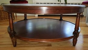 Lot 013 Mahogany Coffee Table 38H x 15.75W PICK UP IN WEST ISLIP, NY