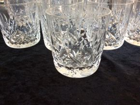 Lot 025 Lot Of 13 Waterford Highball Glasses 3.5 Inches Tall PICK UP IN CENTERPORT