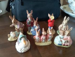 Lot 011 Lot Of 7 Beatrix Potter Porcelain Figures PICK UP IN ROCKVILLE CENTRE