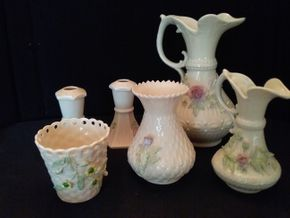 Lot 062 Lot of 6 Belleek Pieces PICK UP IN ROCKVILLE CENTRE