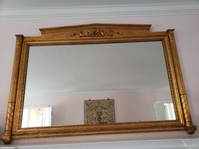 Lot 025 Gold Framed Mirror 44H x 66.5W x 2D PICK UP IN GARDEN CITY, NY