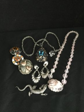 Lot 128 Lot Of Sterling Silver Jewelry PICK UP IN GARDEN CITY