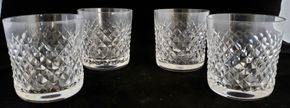 Lot 022 CC-PU-/Lot of 4 Waterford Old Fashion Glass Alana 3.75H x 3W PICK UP IN CARLE PLACE,NY