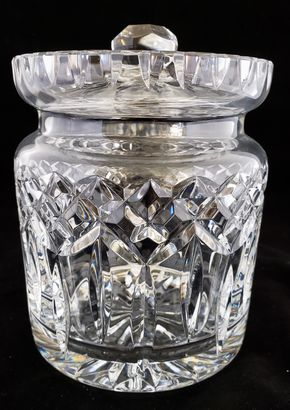 Lot 012 PU-CC / Waterford Lismore Pattern  Large Biscuit Jar 7.25H PICK UP IN CARLE PLACE,NY