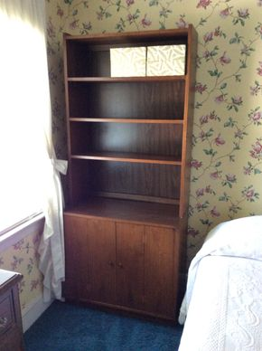 Lot 094 Lane Book Case With Top Shelves 74.5H x 17.5W x 32L PICK UP IN GARDEN CITY