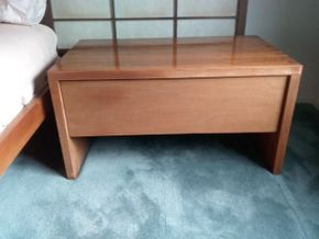 Lot 100 Mid Century Modern Side Table 16H x 17.5W x 30L PICK UP IN OLD BROOKVILLE