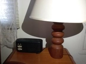 Lot 037 Wood Based Lamp  24 Inches Tall ITEMS MUST BE PICKED UP IN MASSAPEQUA