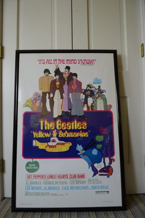 Lot 027 Delivery Framed Yellow Submarine Beatles Poster Limited Edition Print 1999 27.75L x 39W  PICK UP IN ROCKVILLE CENTRE