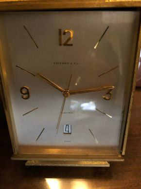 Lot 036 Vintage Tiffany and Co desk Clock As Is