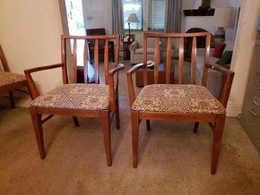 Lot 002 CC-PU/LOT OF 2 Mid Century Modern Arm Chairs 31H x 20x 18L  PICK UP IN EAST ELMHURST ON AUG 19TH