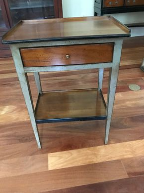 Lot 046 Two Toned 1 drawer wood Side Table 26H X 13W x 18.5L PICK UP IN LAWRENCE