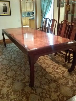 Lot 030 Hendredon Dining Room Table 29.5H x42W x104L PICK UP IN GARDEN CITY