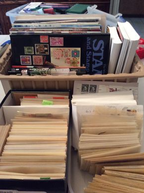Lot 081 Lot of Assorted Foreign And Domestic Stamps PICK UP IN GARDEN CITY