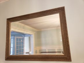 Lot 015 PU and Pay/ Gold Framed Mirror 30.25H x 42.25W PICK UP IN GARDEN CITY, NY