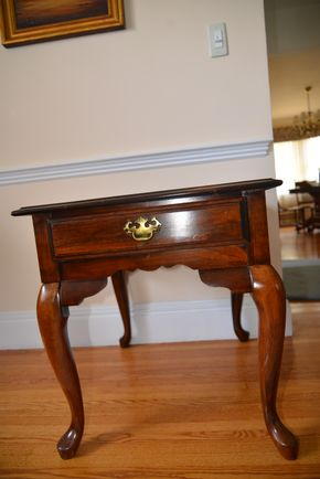 Lot 023 Delivery Wood End Table w/1 Drawer 23H x 22W x 27L PICK UP IN ROCKVILLE CENTRE