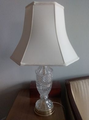 Lot 056 Crystal Table Lamp29 Inches Tall PICK UP IN GARDEN CITY