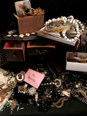 Lot 007 Assorted Lot Of Costume Jewelry. PICK UP IN BELLMORE.