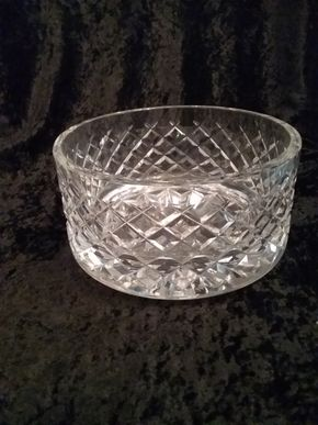 Lot 009 Waterford Bowl 4 Inches Tall 7 Diameter PICK UP IN GARDEN CITY