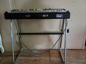 Lot 023 Galanti Model Clipper R6 Vintage Organ 5H x33.25W x 16.5 Not Including Stand AS IS PICK UP IN WHITESTONE, NY