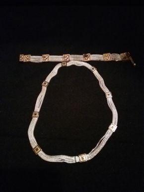 Lot 055 Sterling Silver Necklace and Bracelet PICK UP IN N BABYLON