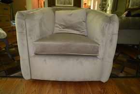 Lot 008 ARHAUS Custom Tufted Accent Chair 34H x 36W 33D PICK UP IN PORT WASHINGTON,NY