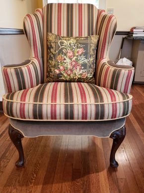 Lot 031 CC-PU TAG SALE 9-13-19/Baker Furniture Upholstered Armchair 43H x 34W x 20D PICK UP IN ROCKVILLE CENTRE, NY