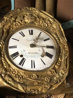 Lot 008 Gaillard Brass Wall Clock 9inch Dial Weight Driven FOR REPAIR AND RESTORATION PICK UP IN EAST MEADOW