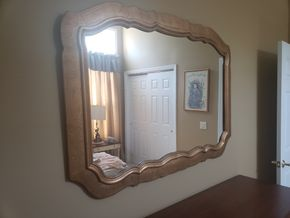 Lot 033 PU and PAY/ Framed Mirror  39H x 53W PICK UP IN EASTPORT,NY
