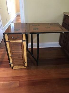Lot 073 Felix Monge Antique Convertible Dresser Desk 30H x 22W 38L PICK UP IN LAWRENCE