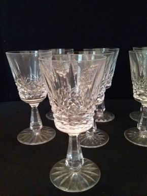 Lot 080 Lot of 8 Kenmare Claret Waterford Glasses PICK UP IN ROCKVILLE CENTRE