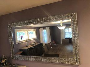 Lot 016 Decorative Large Wall Mirror 59L x 35W PICK UP IN RVC