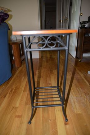 Lot 012 End Table Wood-Metal 26H x 11.25W x 11.5L PICK UP IN MINEOLA, NEW YORK