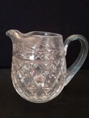 Lot 069 Waterford Pitcher 6 Inches Tall PICK UP IN ROCKVILLE CENTRE