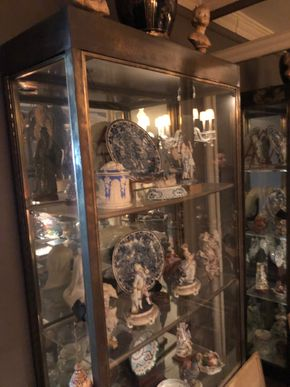 Lot 034 72 inch Glass/Metal Curio Cabinet AS IS